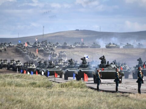 China join military drills in Russia